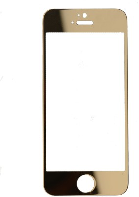 Technojunkie Shiney Golden Tempered Glass Front & Back Protector for iPhone 6 Plus