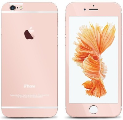 Aart Store iphone5-rosegold-glassapple Front & Back Protector for I Phone 5