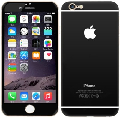 Aart Store iphone6+-black-glassA Front & Back Protector for I Phone 6 Plus