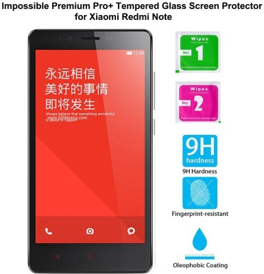 Casreen 100002 Impossible Premium Pro+ Tempered Glass Impossible Glass for Xiaomi Redmi Note
