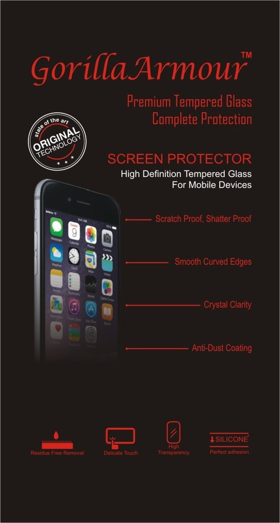 Gorilla Armour Tempered Glass Guard for Motorola Moto X Play, Moto X Play Flipkart