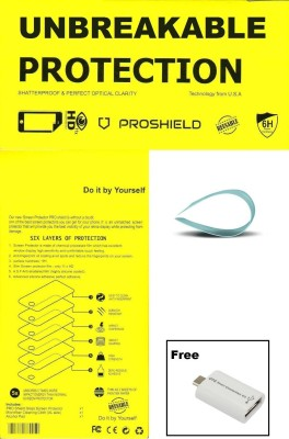 MAXLIVE Unbreakable & Reusable Tempered With OTG Smart Card Reader (Combo 2)-40 Screen Guard for Intex Aqua A2