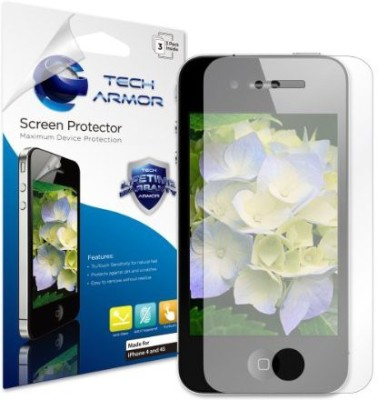 Tech Armor SP-AGF-APL-IP4S-3 Screen Guard for iPhone 4