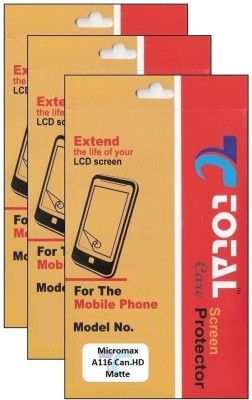 Total Care T3M085 Pack of 3 Matte Screen Guard for Micromax A116 Canvas HD available at Flipkart for Rs.699