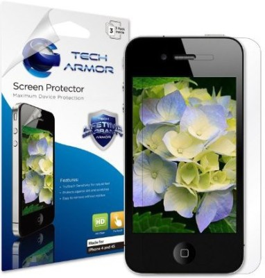 Tech Armor SP-HD-APL-IP4S-3 Screen Guard for iPhone 4