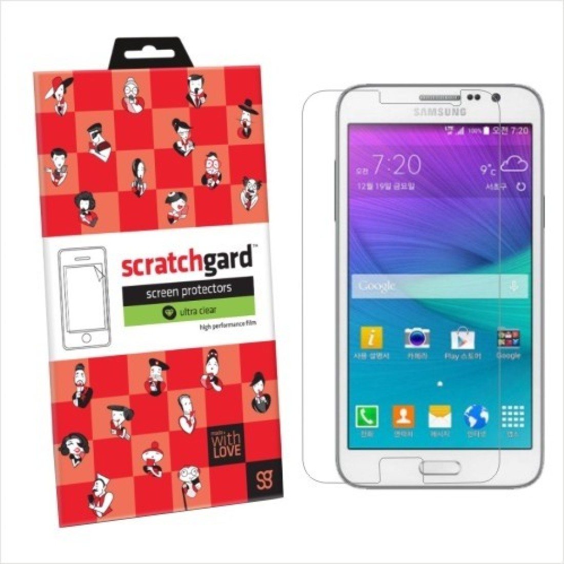 Scratchgard Original Ultra Clear - SG7202 Screen Guard for Samsung Galaxy Grand Max G7202