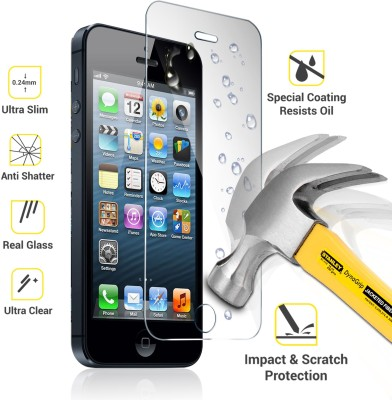 G M Enterprises IPHONE 5 Tempered Glass for IPHONE 5, IPHONE5S, IPHONE5C