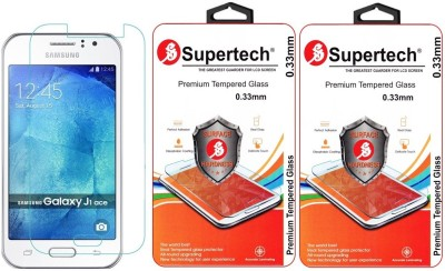 Supertech SM-J110H Curved HD Clear Screen Protector Pack Of 2 Tempered Glass for Samsung J1 Ace