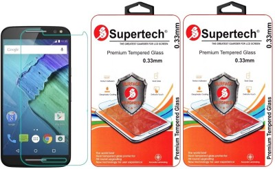 Supertech XT1572 9H Premium HD Clear Screen Protector Pack Of 2 Tempered Glass for Motorola Moto X Style
