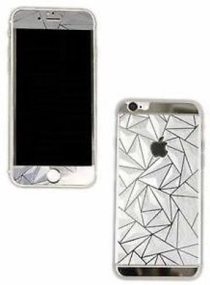 Real Deal iphone 5s silver tempered glass Tempered Glass for apple iphone 5s (silver 3d)