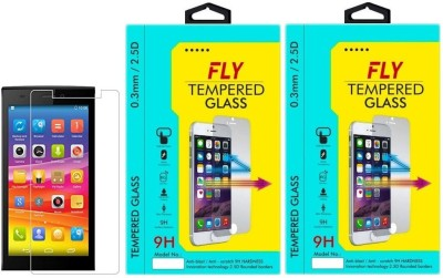 Fly E311 Oil Coated Pack of 2 Tempered Glass for Micromax Canvas Nitro 2 E311 (5