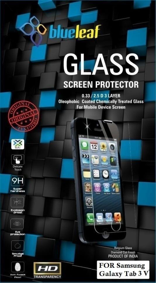Blueleaf Tempered Glass Guard for Samsung Tab3 V