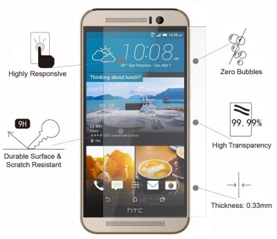 Hook Tempered Glass Guard for Htc Desire 326