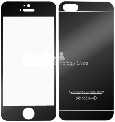 P Poplar Front Back ah Black color Tempered Glass for Apple iPhone 5/5c/5s