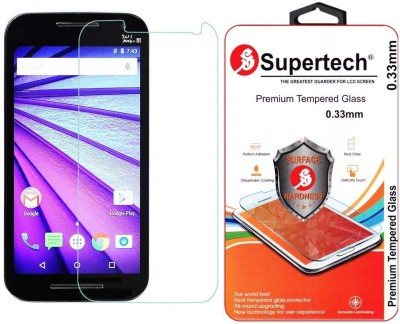 Supertech MG-3 Tempered Glass for Motorola Moto G (3rd Generation)