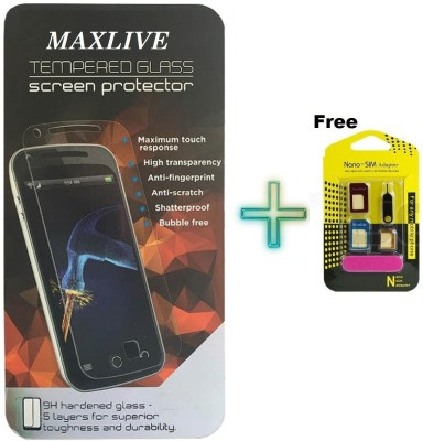 MAXLIVE (pack of 2)-04WITH Nano Sim Adapter Canvas Mega 4G Q417 Tempered Glass for Micromax Canvas Mega 4G Q417