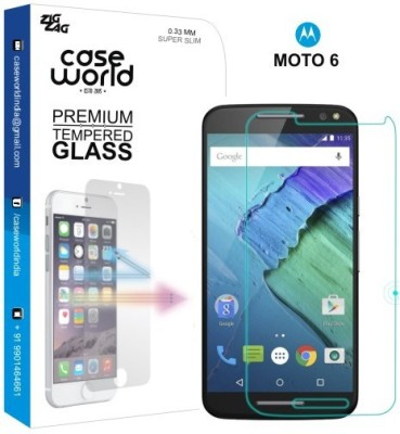 Case World Tempered Glass Guard for Motorola Moto 6