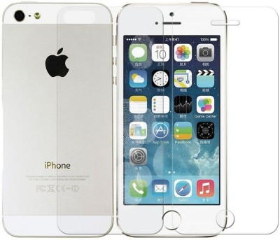 OMS ZONE 9H Hardness (Back & Front) Tempered Glass for Apple iphone 5 & 5S