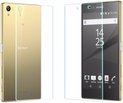 CoverOn Front And Back Glass TG6 Tempered Glass for Sony Xperia Z1