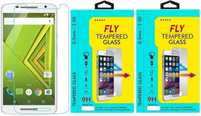 Fly XT1562 Oil Coated Pack of 2 Tempered Glass for Motorola Moto X Play