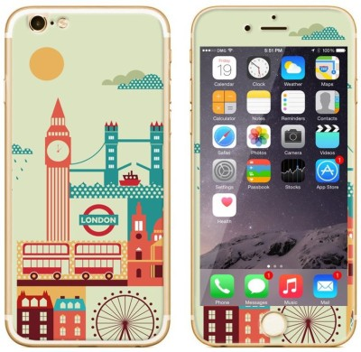 Dress My Gadget London Calling Designer Front & Back Tempered Glass for Apple iPhone 6
