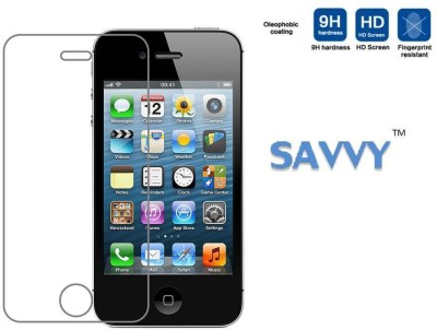 Savvy Ip4 Tempered Glass for Apple iphone4, Apple iphone 4s