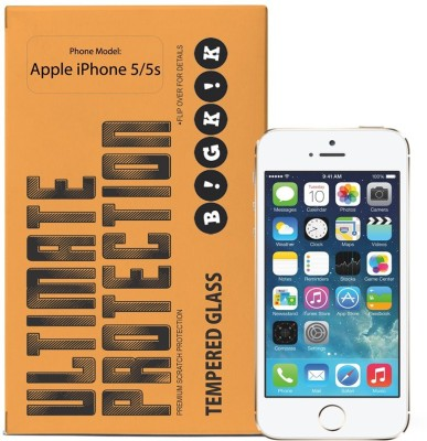 Bigkik 2911021013 Tempered Glass for Apple iPhone 5