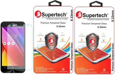 Supertech ZE500KL Pro Plus HD Clear Screen Protector Pack Of 2 Tempered Glass for Asus Zenfone 2 Laser 5