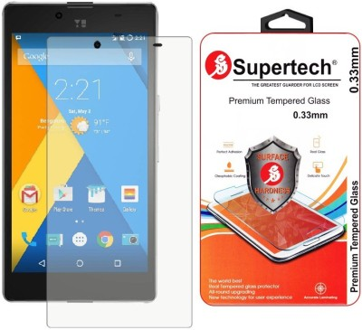 Supertech YU-5010 9H Premium HD Clear Screen Protector Tempered Glass for Micromax YUPHORIA