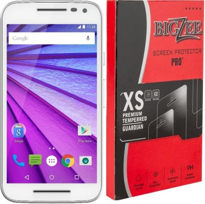 Bigzee BZ-000Curved Edge Tempered Glass for Motorola Moto G(4th Gen) Plus