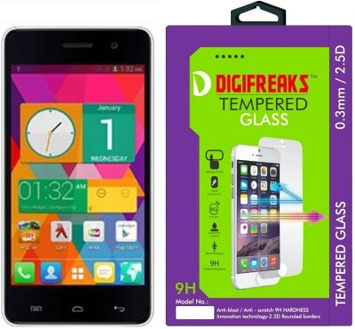 Digifreaks A-106 Oil Coated Screen Protector Tempered Glass for Micromax A106 Unite 2 (4.7