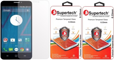 Supertech AO-5510 9H Premium HD Clear Screen Protector Pack Of 2 Tempered Glass for Micromax YU Yureka