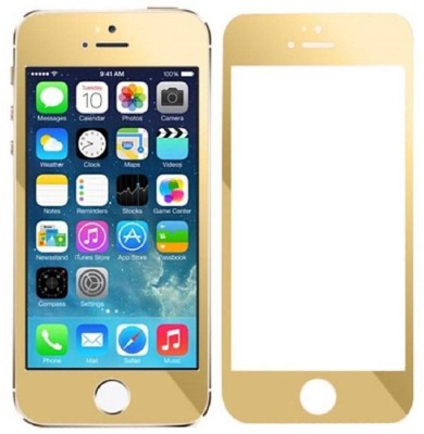 Qawachh 5/5sGold Tempered Glass for apple 5;5s
