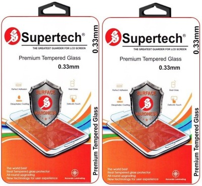 Supertech ZE551ML Premium 0.33 HD Clear Screen Protector Pack Of 2 Tempered Glass for Asus Zenfone 2 Deluxe 5.5