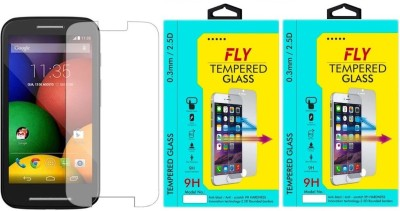 Fly E-1 9H Pro 0.33MM Pack of 2 Tempered Glass for Motorola Moto E1 (1st Generation)