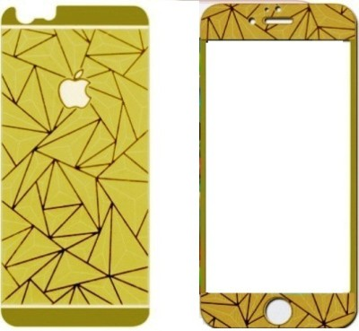 Pinglo 3D Gold Front & Back Tempered Glass for Apple i phone 6, Apple i phone 6s