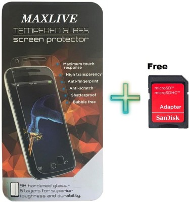 MAXLIVE (pack of 2)-04WITH Micro Sd Adapter Canvas Fire 4G Plus Q412 Tempered Glass for Micromax Canvas Fire 4G Plus Q412