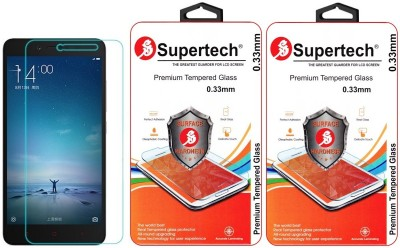 Supertech MZB4397IN/98IN 9H Premium HD Clear Screen Protector Pack Of 2 Tempered Glass for Xiaomi Redmi 2 Prime