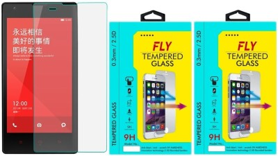 Fly 1S Curved Pack of 2 Tempered Glass for Xiaomi Redmi 1S