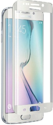 iChic Gear 100% Edge Fitted (White) Tempered Glass for Samsung Galaxy S6 Edge