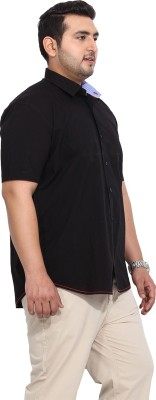 John Pride Men's Solid Casual Black Shirt