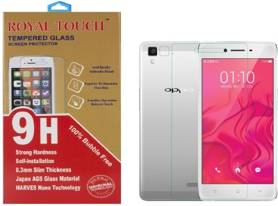 Royal Touch 100% Bubble Free Rt65 Tempered Glass for Oppo F1