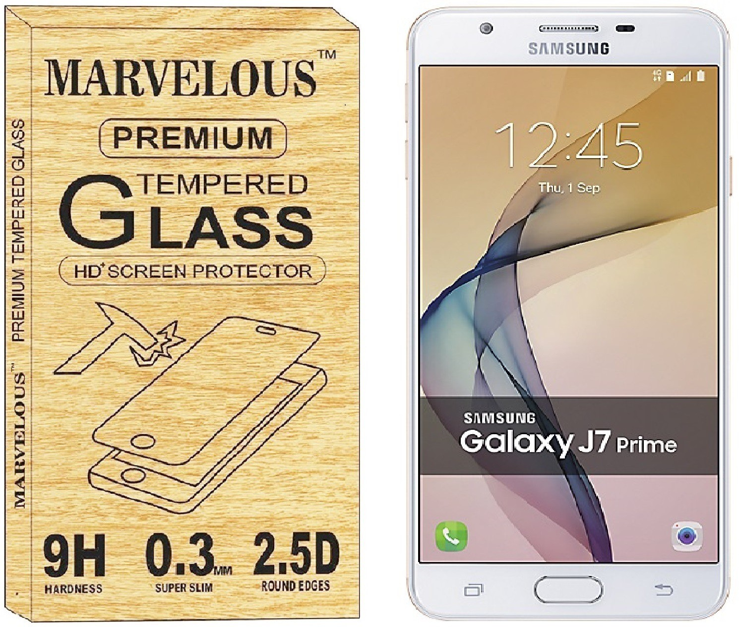 Marvelous Tempered Glass Guard for SAMSUNG Galaxy J7 Prime