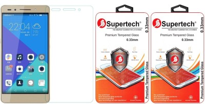 Supertech PLK-UL00 Pro Plus HD Clear Screen Protector Pack Of 2 Tempered Glass for Huawei Honor 7