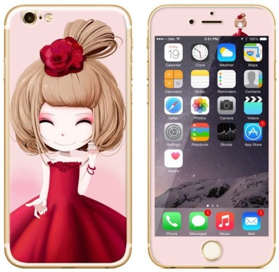 Dress My Gadget Rosy Doll Designer Front & Back Tempered Glass for iPhone 5