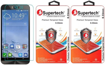 Supertech ZD551KL-1I202WW Pro Plus HD Clear Screen Protector Pack Of 2 Tempered Glass for Asus Zenfone Selfie 5.5