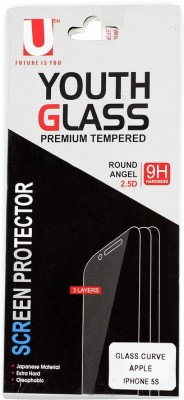 UTH ZPTEMPI5S Tempered Glass for iPhone 5s, iPhone 5c