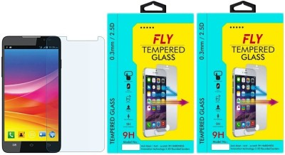 Fly A311 Oil Coated Pack of 2 Tempered Glass for Micromax Canvas Nitro A311 (5