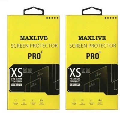MAXLIVE (Pack of 2) Canvas Spark Q380 Tempered Glass for Micromax Canvas Spark Q380