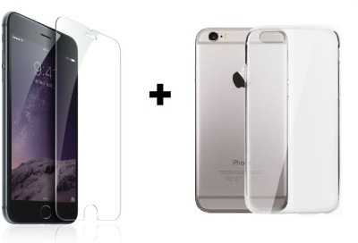KIA iPhone 6/6s Transparent Back Case + Tempered Glass for iPhone 6, iPhone 6s